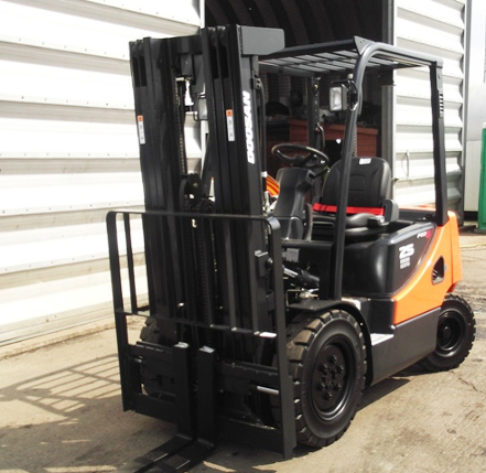 Diesel operated forklift